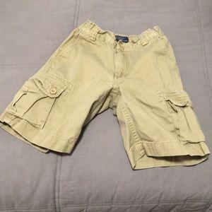 Boys khaki Polo cargo shorts size 6